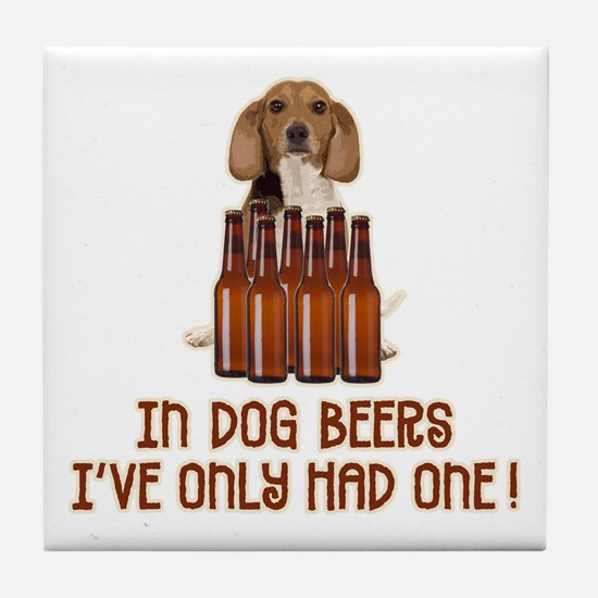In Dog Beers ... Tile Coaster