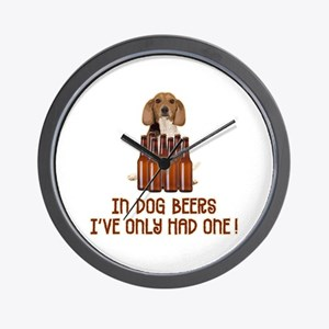 In Dog Beers ... Wall Clock
