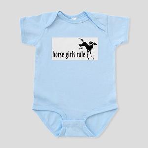 horse girls rule Infant Creeper