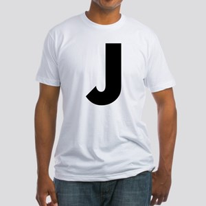 Letter J Fitted T-Shirt