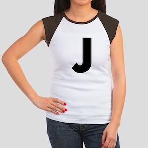 Letter J Women's Cap Sleeve T-Shirt
