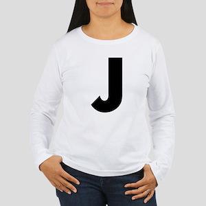 Letter J Women's Long Sleeve T-Shirt