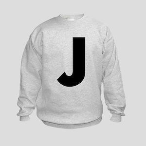 Letter J Kids Sweatshirt