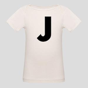 Letter J Organic Baby T-Shirt