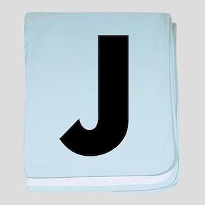 Letter J baby blanket