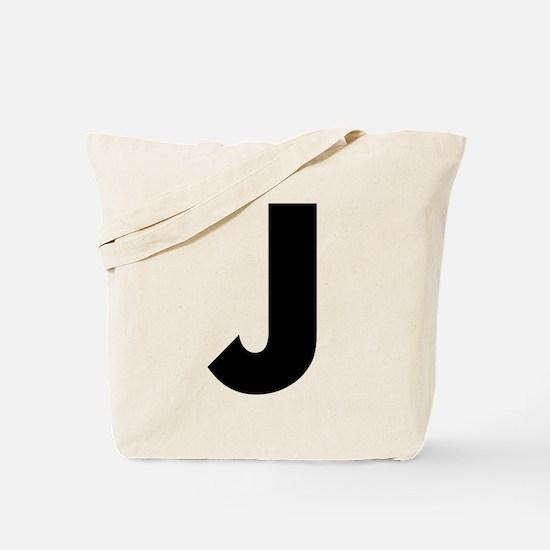 Letter J Tote Bag