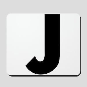 Letter J Mousepad