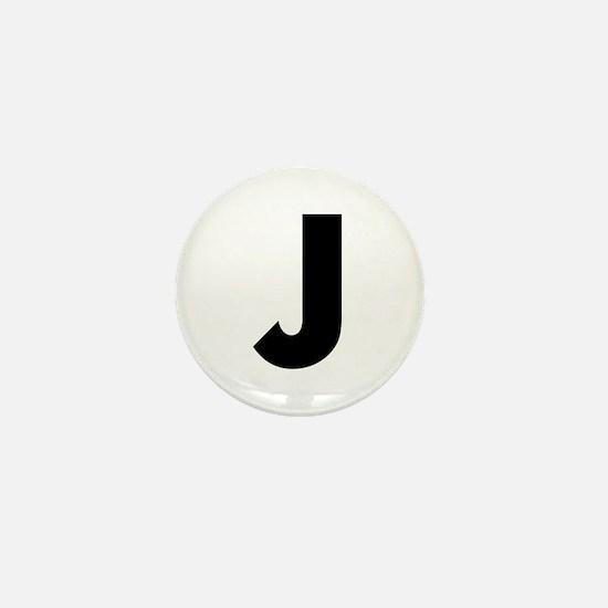 Letter J Mini Button