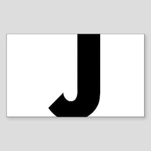 Letter J Sticker (Rectangle)