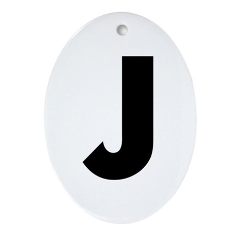 Letter J Ornament (Oval)
