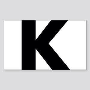 Letter K Sticker (Rectangle)