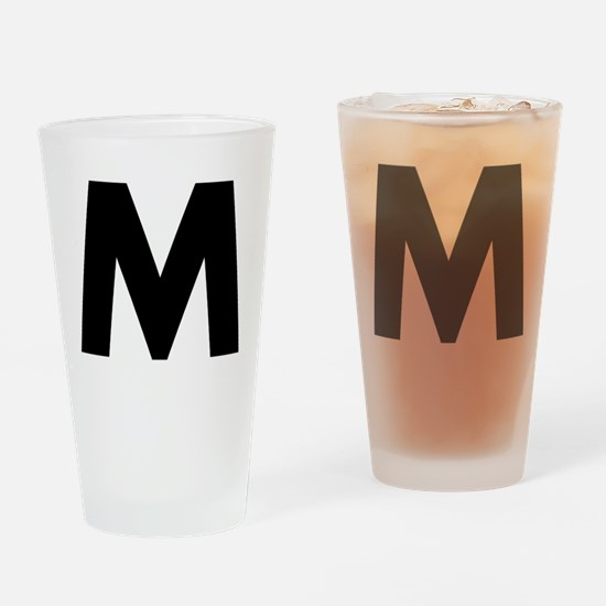 Letter M Drinking Glass