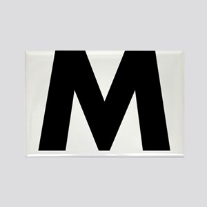 Letter M Rectangle Magnet