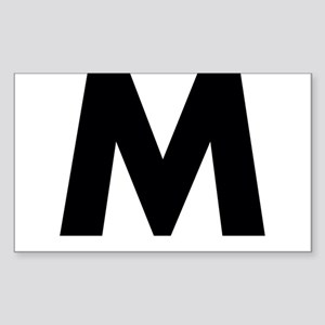 Letter M Sticker (Rectangle)
