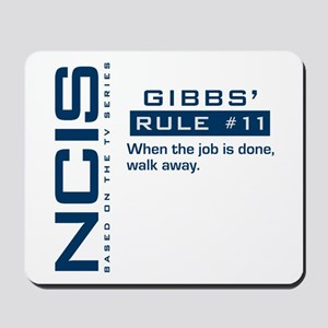 NCIS Gibbs' Rule #11 Mousepad