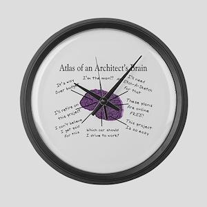 Atlas Of... Large Wall Clock