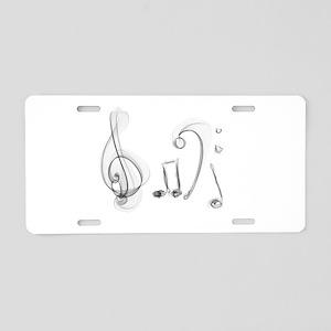 Music Design Aluminum License Plate
