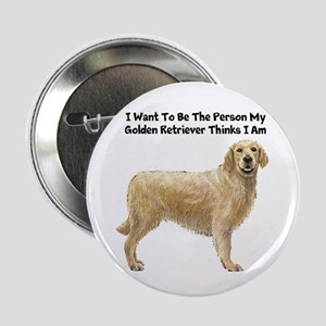"Golden Retriever 2.25"" Button"