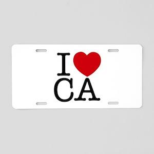 I Heart California Aluminum License Plate