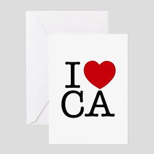 I Heart California Greeting Card