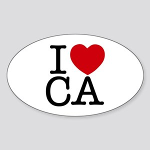 I Heart California Sticker (Oval)