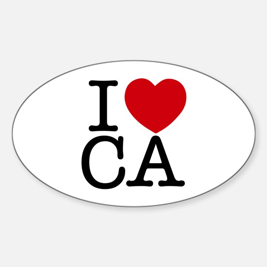 I Heart California Sticker (Oval)