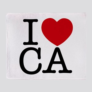 I Heart California Throw Blanket