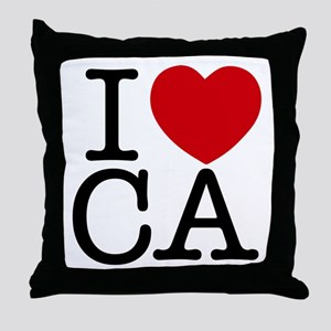 I Heart California Throw Pillow