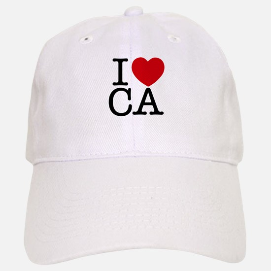 I Heart California Baseball Baseball Cap