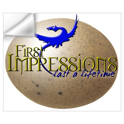 FIRST IMPRESSIONS Wall Decal