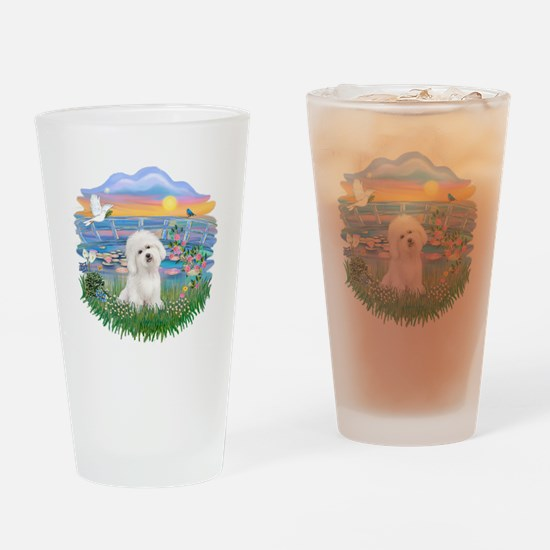 SunriseLilies/Bichon#3 Drinking Glass