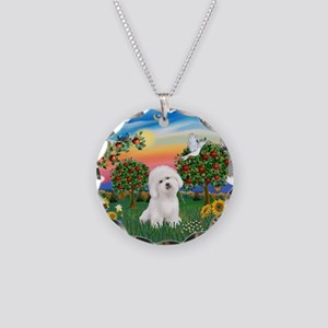 BrightCountry-Bichon#1 Necklace Circle Charm