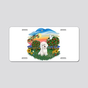 BrightCountry-Bichon#1 Aluminum License Plate