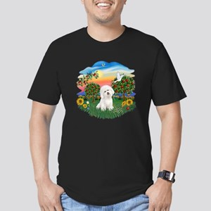 BrightCountry-Bichon#1 Men's Fitted T-Shirt (dark)