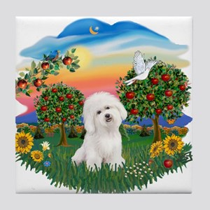 BrightCountry-Bichon#1 Tile Coaster