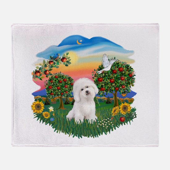 BrightCountry-Bichon#1 Throw Blanket