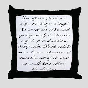 Pride and Prejudice - Vanity Throw Pillow