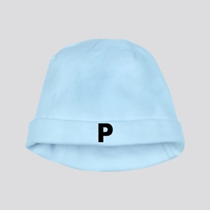 Letter P baby hat