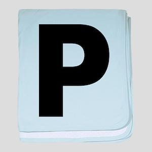 Letter P baby blanket
