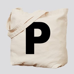 Letter P Tote Bag