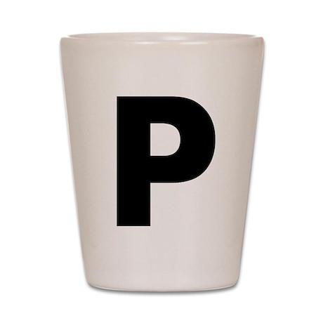 Letter P Shot Glass