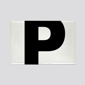 Letter P Rectangle Magnet