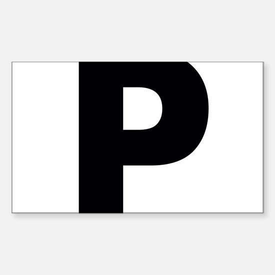 Letter P Sticker (Rectangle)