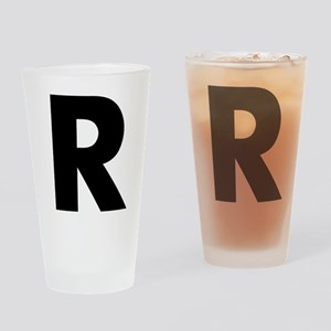 Letter R Drinking Glass