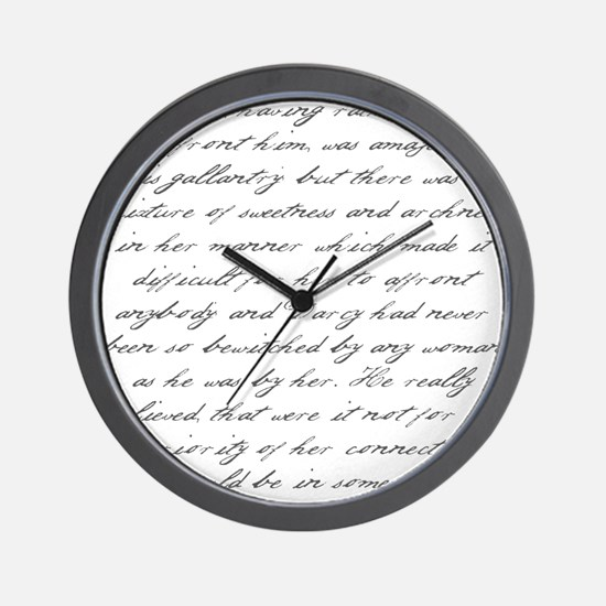 Pride and Prejudice - He Shou Wall Clock