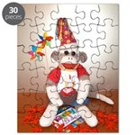 Ernie the Sock Monkey Birthday Puzzle