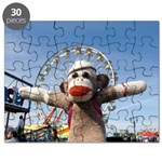 Ernie the Sock Monkey Ferris Wheel Jigsaw Puzzle
