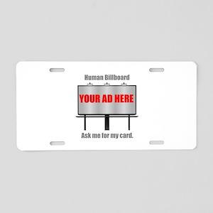 Human Billboard Service Aluminum License Plate