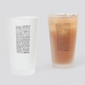 Rules of a Functional Mute Drinking Glass