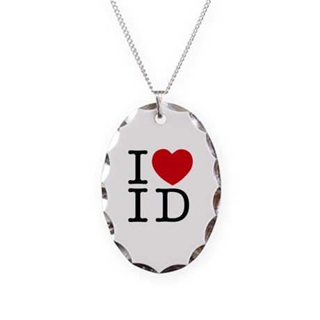 I Heart Idaho Necklace Oval Charm